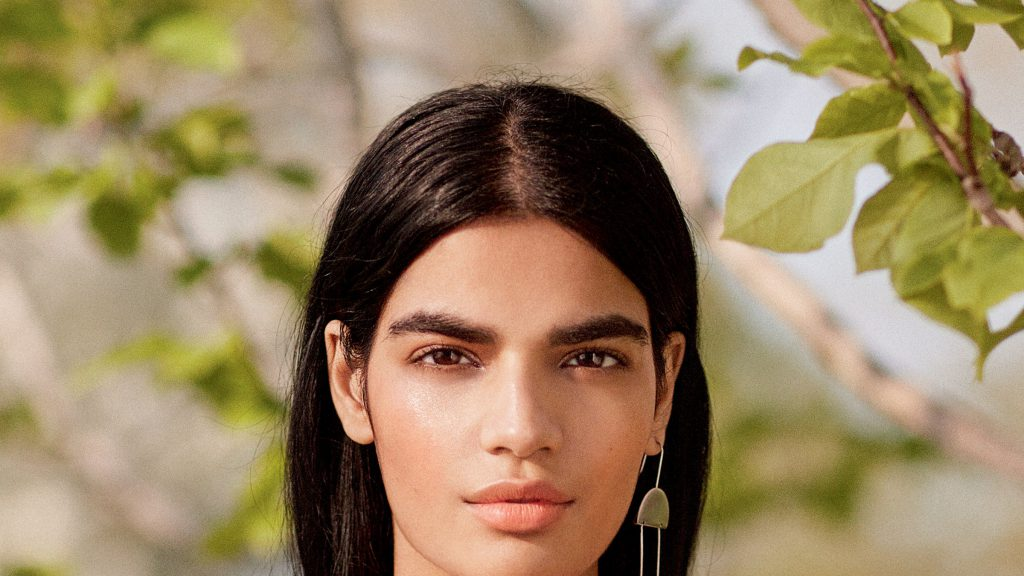 Woman with beautiful brows