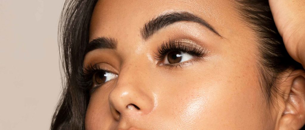 Brow lamination Boston woman great brows
